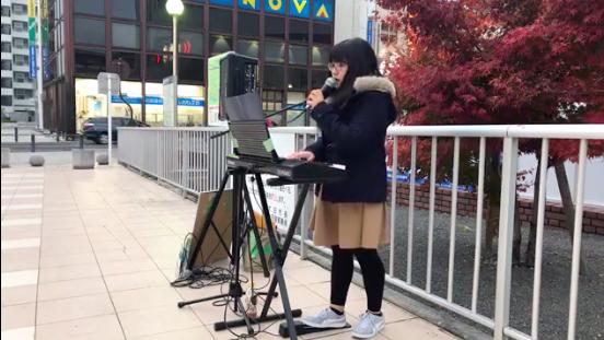 2019/12/7 太田駅で路上ライブ