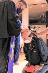 洗礼式の写真